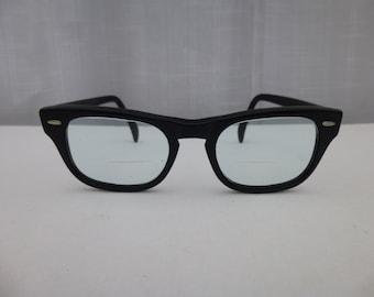3bac06addf13 Vintage 50s 60s American Kono USA 6 Eyeglasses Black Horn Rim Wellington  Lexington Oxford Classic Retro Eyewear Hipster Glasses Glam Garb