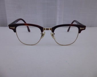 fed5b0a85d3 Vintage 60s 70s Art-Craft Rochester 140 Clubman Eyeglasses Brown Ginger  Tortoise Wellington Oxford Frame Retro Eyewear Hipster USA Glam Garb