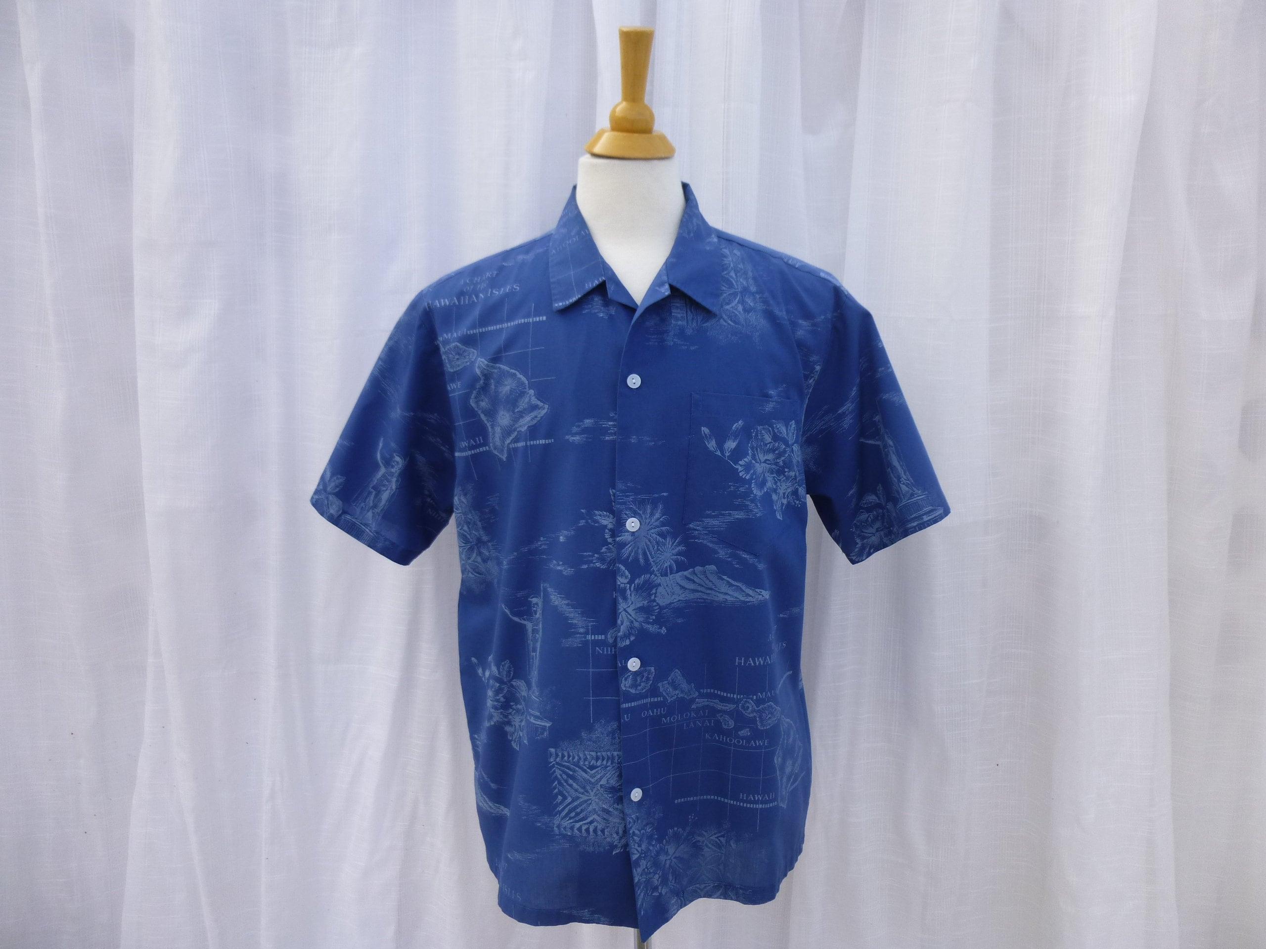 1960s – 70s Men's Ties | Skinny Ties, Slim Ties Vintage 60S Howie Hawaiian Islands Aloha Hawaii Dress Shirt L Xl Blue Short Sleeve Palm-Tree Floral Retro Usa  Read Description Glam Garb $33.00 AT vintagedancer.com
