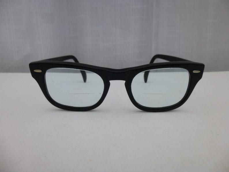 2228a2b1b14b Vintage 50s 60s American Kono USA 6 Eyeglasses Black Horn Rim | Etsy