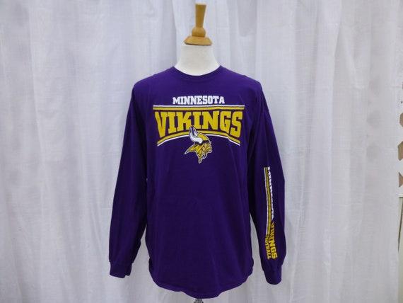 9fe962d4f Vintage 90s Minnesota Vikings NFL Team Apparel Long Sleeve