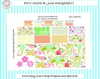 Cozy Fall Tumble! - Planner Stickers - Bottom Washi/Half-Box/Layered Flags - Erin Condren, Sadie's, Lights Planner LPA, Plum,  [ECV-0173-B]