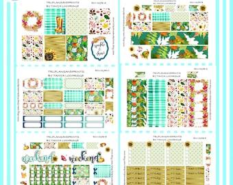Cozy Fall Tumble! - Planner Stickers - Cottagecore - Deluxe Bundle - Plum, Sadie's, Lights Planner, City Girl, Erin Condren [ECV-0178-BK]