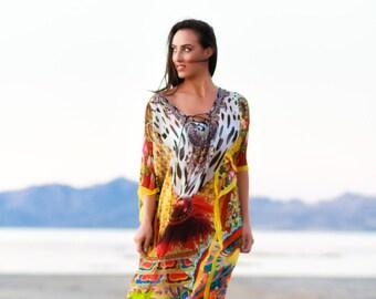 Kaftan, maxi dresses, caftan, plus size clothing, sheer dress, long dress, bohemian, embellished kaftan, honeymoon