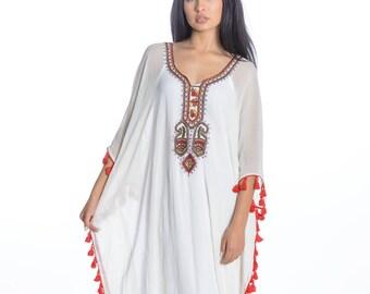 kaftan caftan dresses long kaftan dress maxi dresses Embroidered kaftan caftan dress long white maxi dress in multiple colors