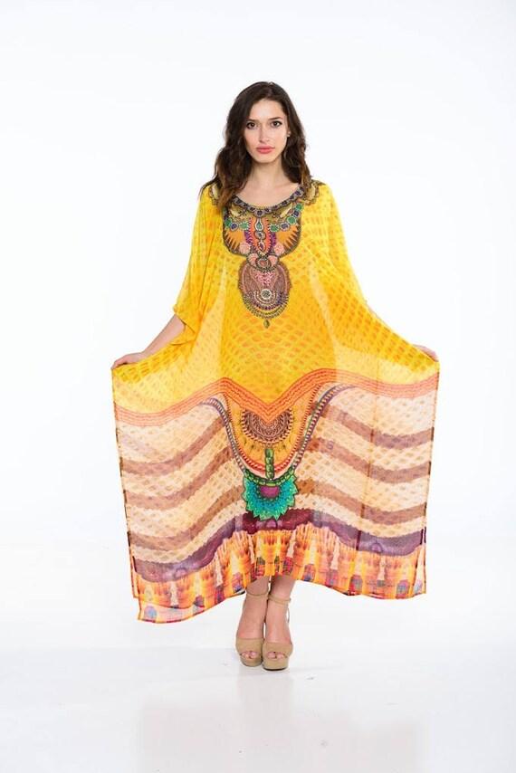 Boho Mutterschaft Kaftan Kleid lange Maxi Sommerkleid Plus | Etsy