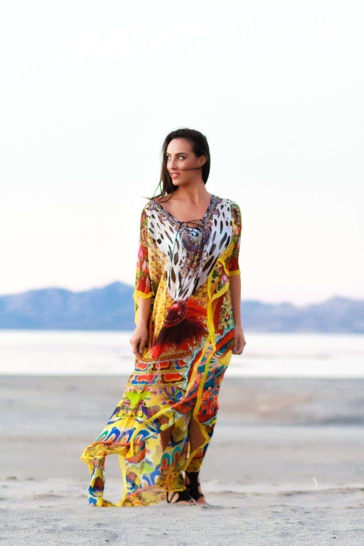 Lace up dress Kaftan maxi dresses caftan plus size | Etsy
