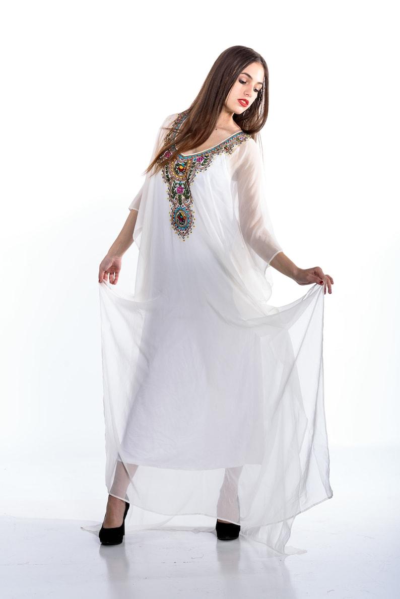 742badcddcc Kaftan White beach dresses long kaftan dress maxi dresses
