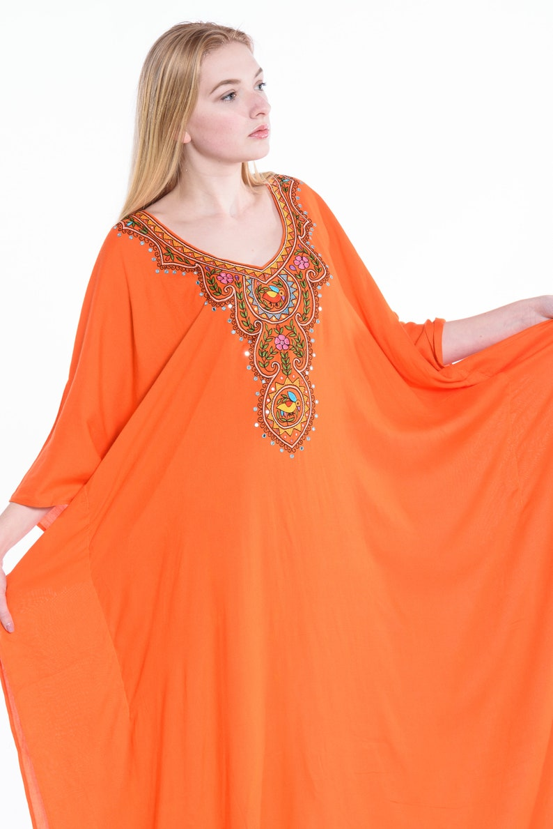 Peach Tribal Plus Size Maternity Maxi Dress