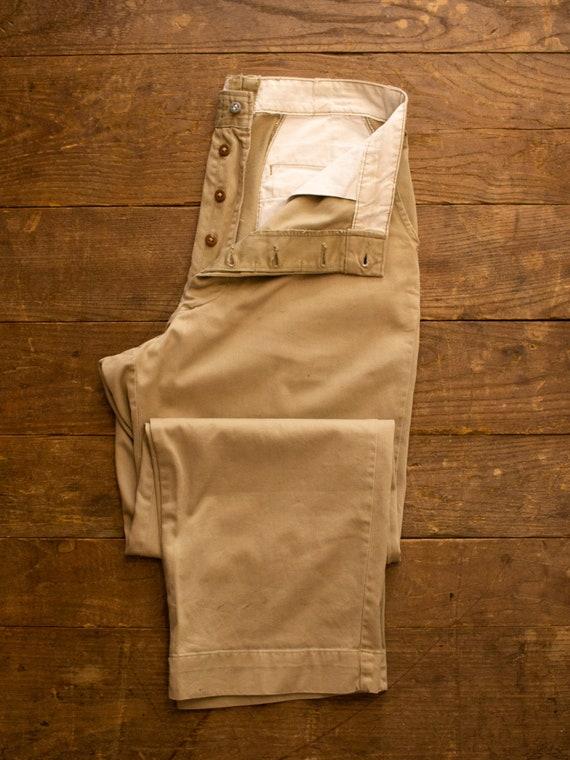 Vintage Military Khaki Pants | 50s Mens Pants | Co