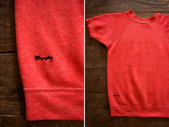Wrangler Short Sleeve Sweatshirt | 60s Sweater | D