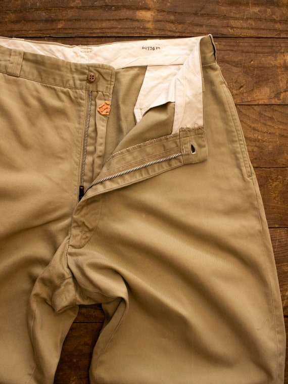 Vintage Military Chino | 50s Mens Pants | Cotton … - image 6