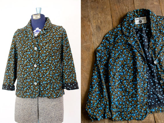 Poplin Shirt Jacket | 60s Prairie Blouse | Calico