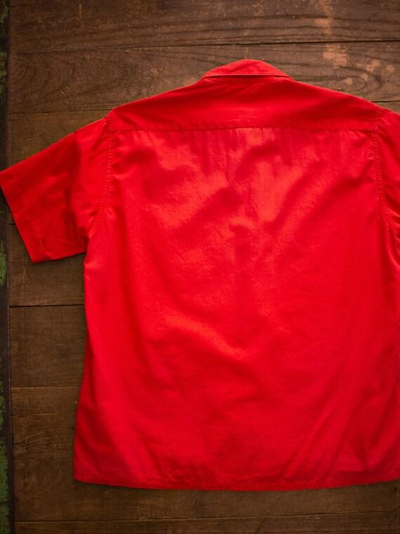 Mens Casual Shirt | 60s Loop Collar Shirt | Vinta… - image 9