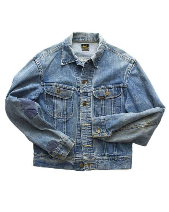 Worn & Repaired 1970s LEE Denim Jacket | medium