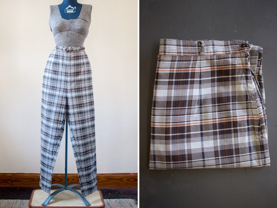 Plaid Pants | Womens Pants | Cigarette Pants | Pla