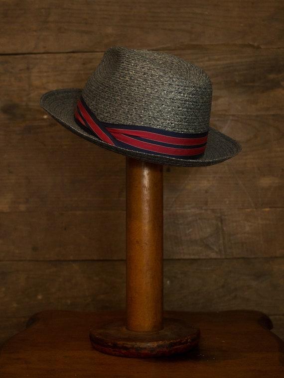 Straw Fedora   Vintage Fedora   60s 70s Mens Hat … - image 3