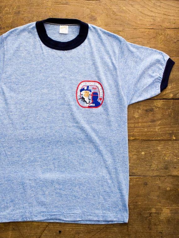 Vintage Scout Tshirt | Vintage Ringer Tee | Heathe