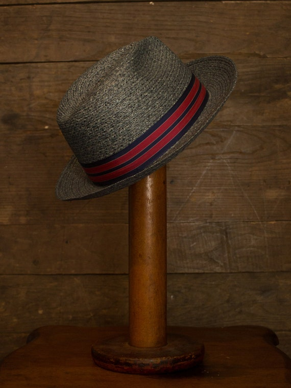 Straw Fedora   Vintage Fedora   60s 70s Mens Hat … - image 4