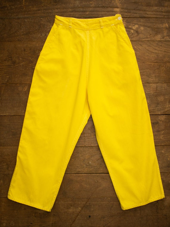 Side Zip Pants | Vintage Sailcloth | Cropped Pants
