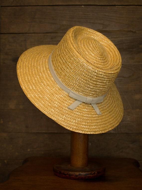 Garden Hat | Vintage Straw hat | Brimmed Sun Hat |