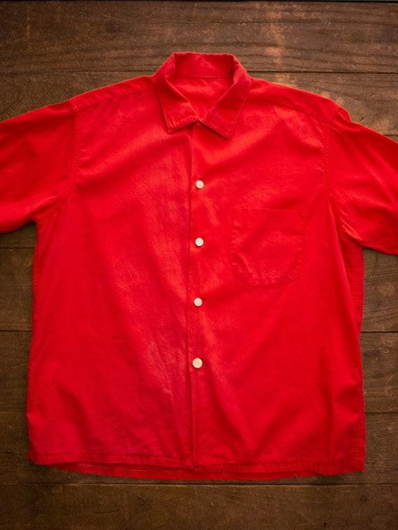 Mens Casual Shirt | 60s Loop Collar Shirt | Vinta… - image 2