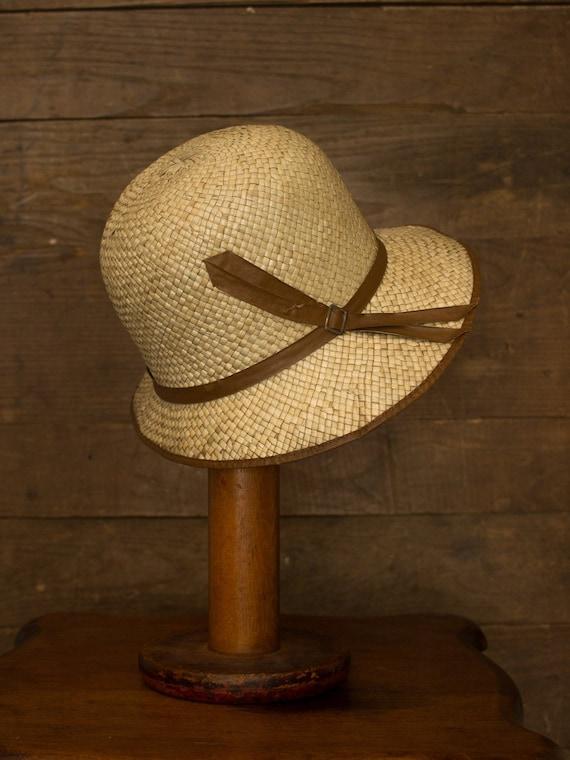 Straw Cloche | 20s 30s Hat | Vintage Straw Hat | A
