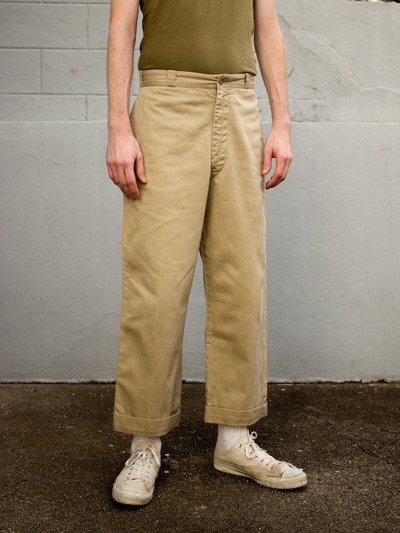Vintage Military Chino | 50s Mens Pants | Cotton T