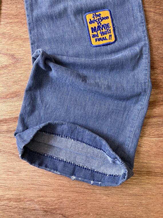 bell bottoms | vintage flare jeans | 70s bell bot… - image 6