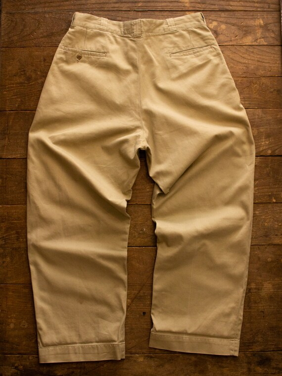 Vintage Military Chino | 50s Mens Pants | Cotton … - image 7