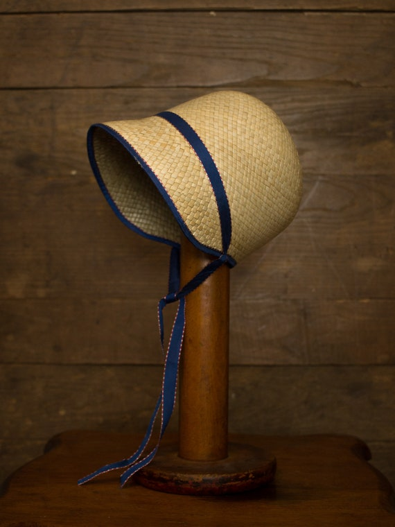 Antique Straw Bonnet | 20s 30s Cloche | Victorian