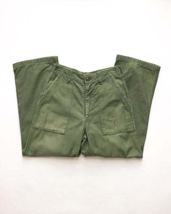 OG 107 -  Vietnam Era Cotton Army Fatigue Pants  