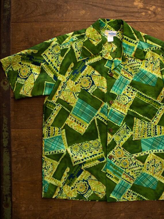 60s Hawaiian Shirt | Vintage Loop Collar Shirt | 6