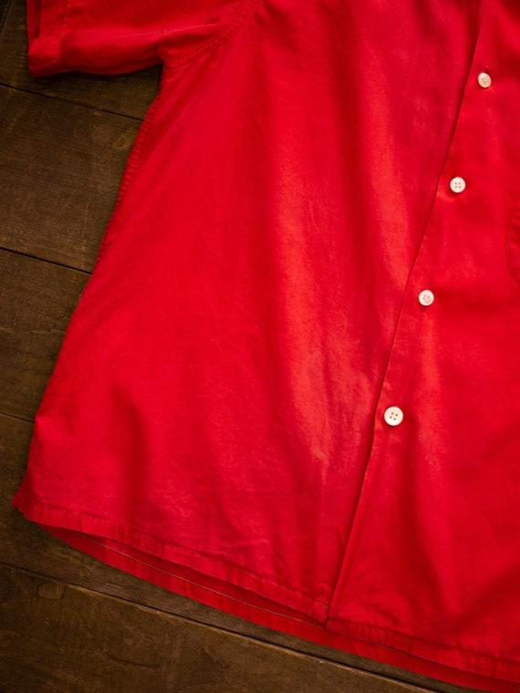 Mens Casual Shirt | 60s Loop Collar Shirt | Vinta… - image 4