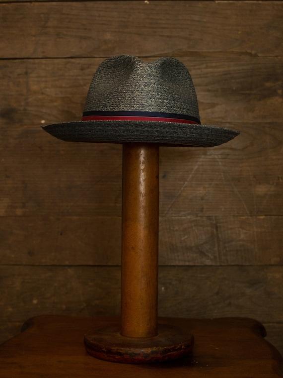 Straw Fedora   Vintage Fedora   60s 70s Mens Hat … - image 7
