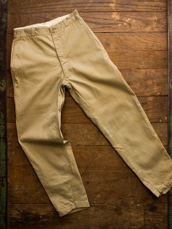 Mens Twill Pant | Vintage Military Pants | Vintage