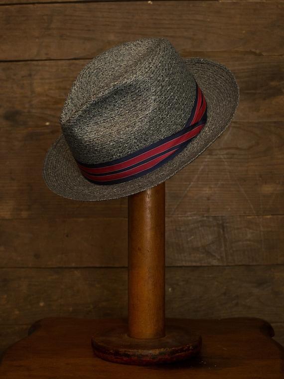 Straw Fedora | Vintage Fedora | 60s 70s Mens Hat |