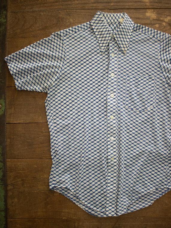 70s Mens Shirt | Mens Casual Shirt | 70s Polyester