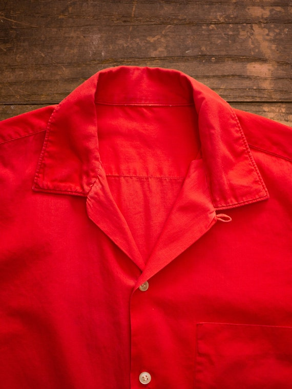 Mens Casual Shirt | 60s Loop Collar Shirt | Vinta… - image 5