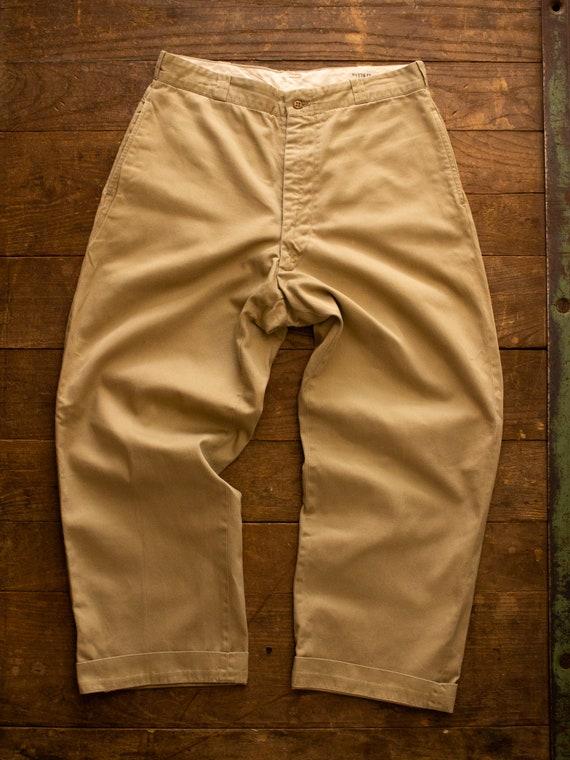 Vintage Military Chino | 50s Mens Pants | Cotton … - image 5