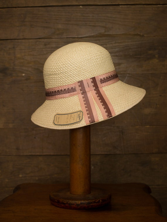 20s 30s Cloche | Vintage Straw Hat | Art Deco Fash