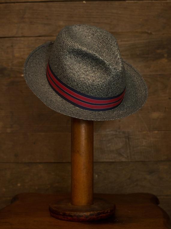 Straw Fedora   Vintage Fedora   60s 70s Mens Hat … - image 6