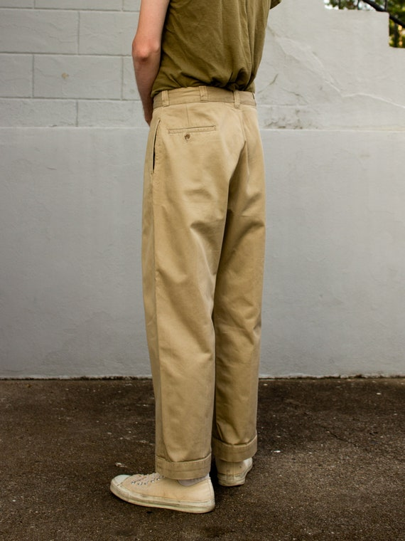 Vintage Military Chino | 50s Mens Pants | Cotton … - image 2