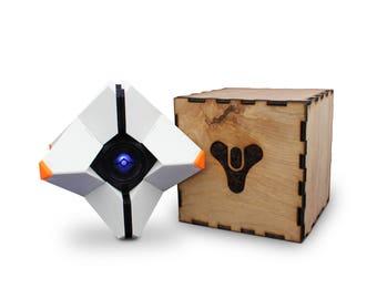 Destiny Ghost Kit - 3D Printed - Optional Collectors Laser Cut Box, Magnets, & LED