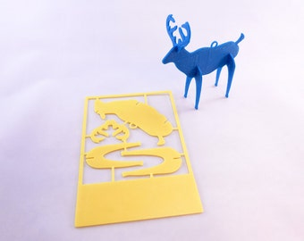 3D Printed Christmas Card Ornaments - Reindeer