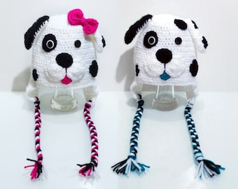 Crochet Boy or Girl Dalmation Hat