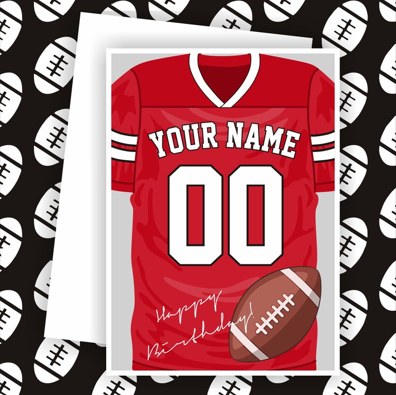 newest collection bf903 143d9 Football Card, Arizona Fan Greeting Card, Personalized Football Greeting  Card, Custom Jersey Sport Card,Arizona Cardinals