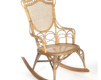 Wicker Rocking Chair Etsy