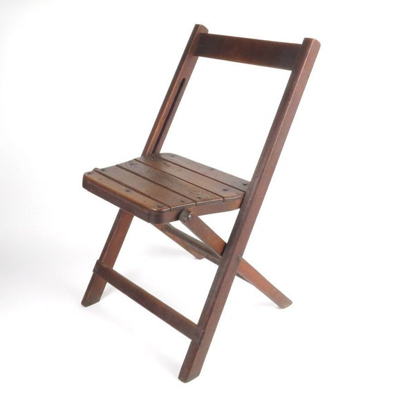 image 0 - Vintage Wooden Folding Chair Childs Small Bruswick Seating Etsy