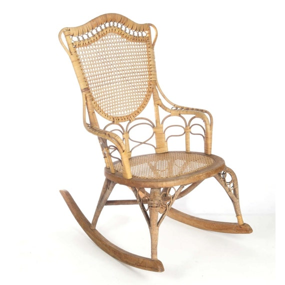 Groovy Antique Wicker Rocking Chair Wakefield Rattan Co Label 19Th C Natural Ladies Spiritservingveterans Wood Chair Design Ideas Spiritservingveteransorg